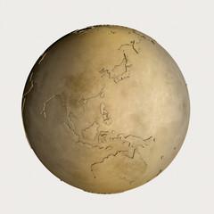 金の地球儀