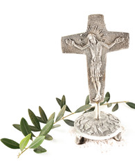 crocefisso e ramo ulivo