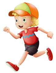 A young kid running