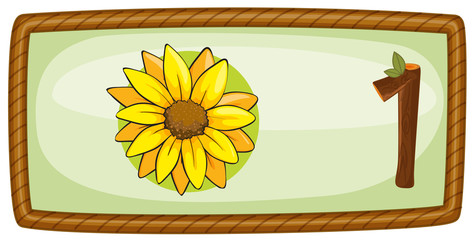A frame with one flower