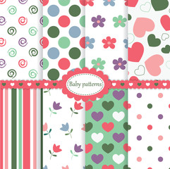 Set of baby patterns