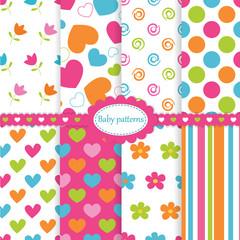 Set of baby patterns