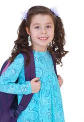 young schoolgirl with satchel.