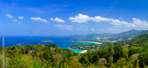 Panorama bird eye view of Phuket, Thailand