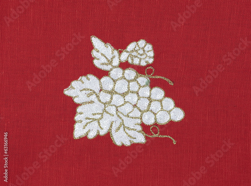 Embroidered grape