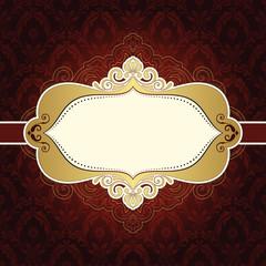 Frame Vintage Ornate Red