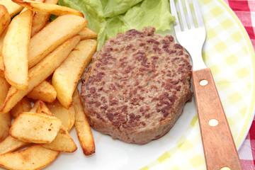 steak haché et frites