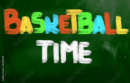 Basketball Time Concept