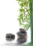 bambou et galets