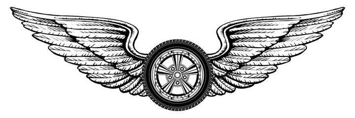 Wheel With Wings