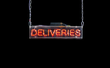 Bright Red Delivery Sign