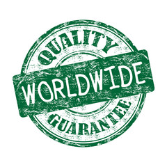 Worldwide quality guarantee rubber stamp
