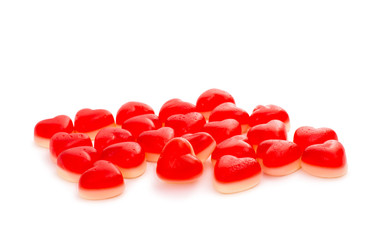 candy hearts isolated