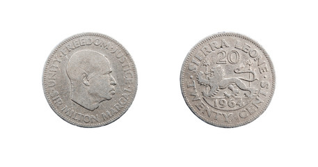 Coin 20 cents. Republic of Sierra Leone