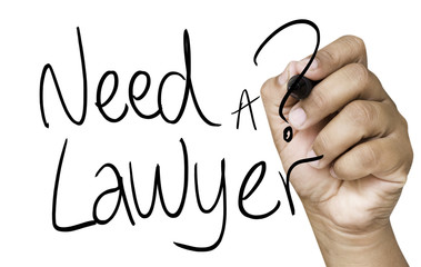 Need a Lawyer hand writing on black marker