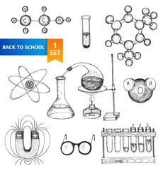 Education chemistry and physics set