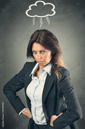 Furious manager woman