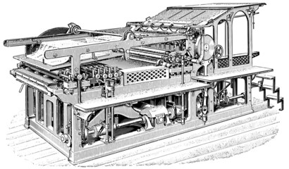 Printing press. Chromotypograph