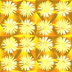 Golden yellow dandelion tileable wallpaper