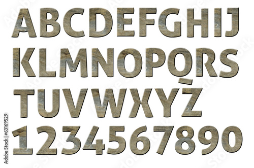 Letterpress uppercase alphabets - A to Z Nice Wood style.