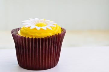 Chocolate lemon cupcake
