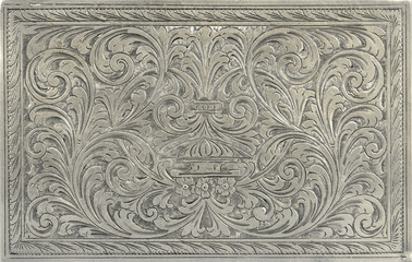 Engraved silver