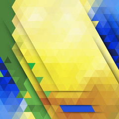 Vector abstract geometric background in Brazil color concept
