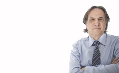 Businessman in whit background
