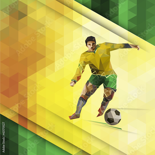 Abstract composition of geometric shapes. Football theme.