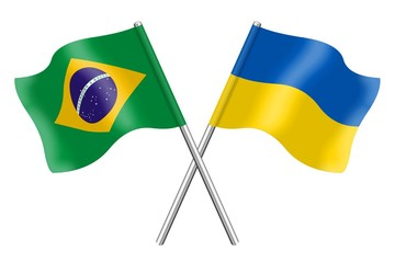 Flags: Brazil and Ukraine
