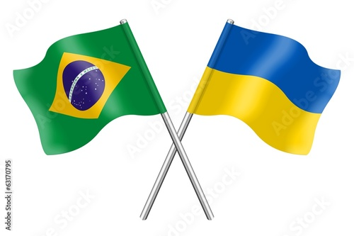 Flags: Brazil and Ukraine