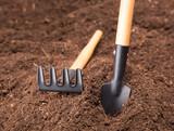 Garden Tools on Soil poster