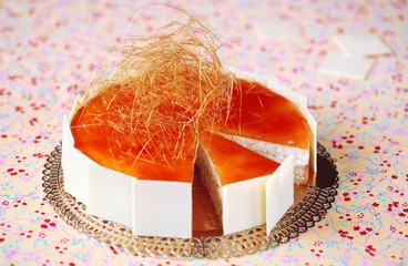 Rice Caramel Mousse Cake