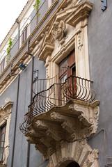 Baroque balcony in Catania