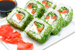Japanese cuisine - rolls closeup
