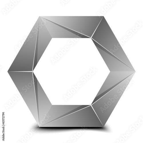 Hexagon folded figure