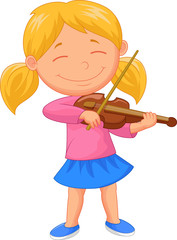 Little girl playing violin