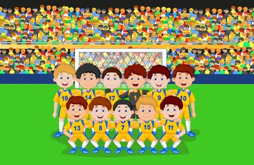 Football team cartoon