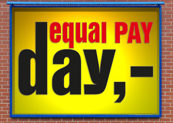 Werbetafel equal pay day