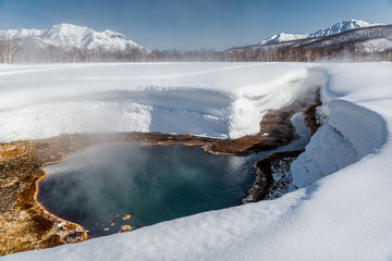 Griffin Ivanova, hot spring in the Nalichevo National Park