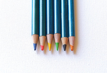 Colour pencils close up