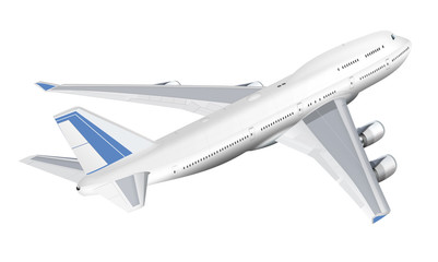 Jumbo Jet, Passagierföugzeug, freigestellt