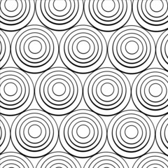 concentric black rings on a white background