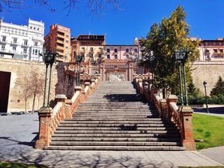 escaleras se subida a la plaza del Ovalo, Teruel