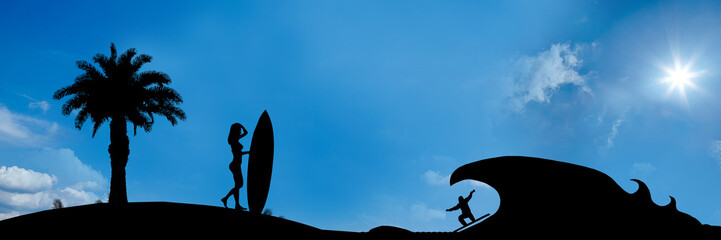 website banner - big wave surfing - format 3 zu 1 - g728