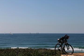 Mountain bike on the beach