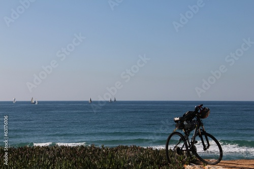 Mountain bike on the beach