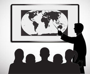 on the image the presentation of the businessman is presented