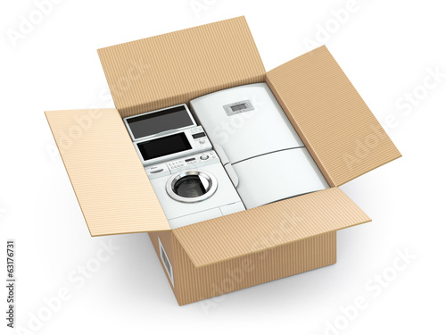 Home appliance in box.
