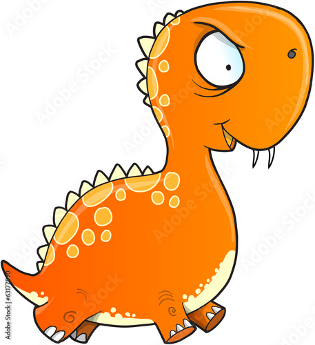 Insane Crazy Dinosaur Vector Illustration Art